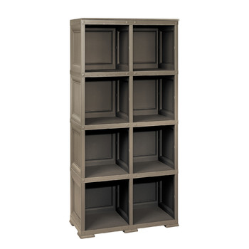 OMNIMODUS SHELVING UNIT - 4 MODULES + 2 OPTIONAL SUPPORTS